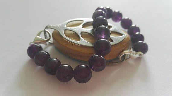 Bellabeat bracelet with semi precious amethyst beads in my Etsy shop https://www.etsy.com/uk/listing/534533513/bellabeat-leaf-bracelet-elasticated