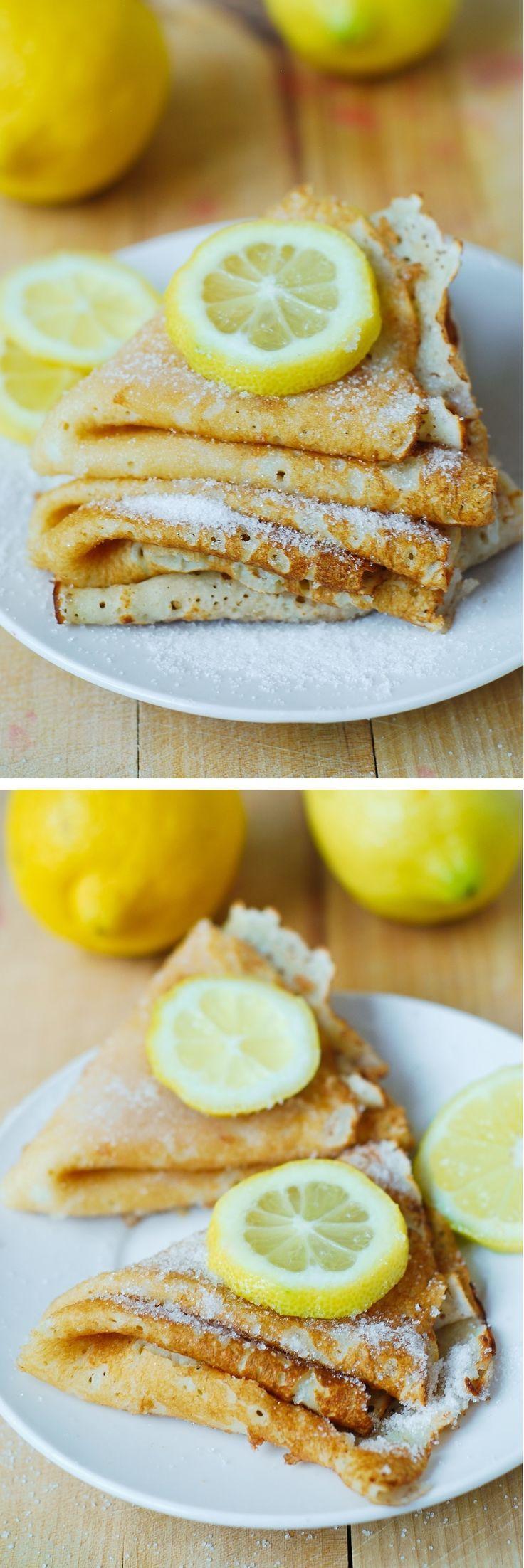Lemon Sugar Dessert Crepes - easy-to-make and so delicious!