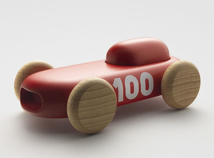 wood toy red transport minimalist wheels engraved logo Embossed/Debossed sport