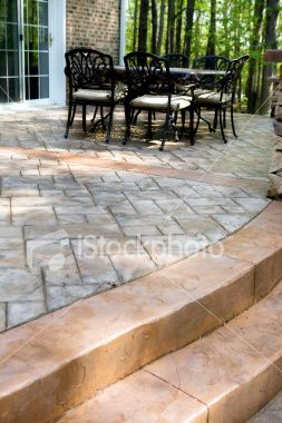 For covering an existing concrete patio