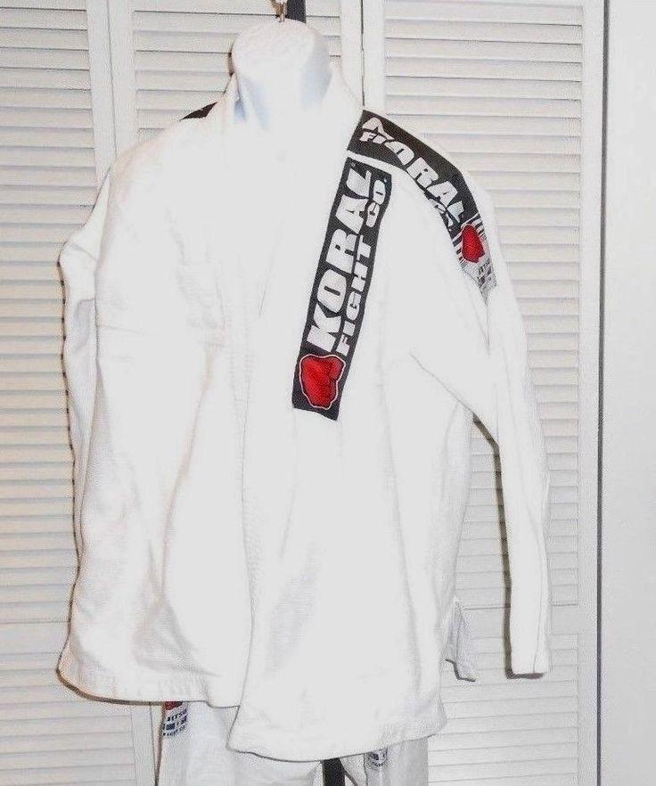 Koral Fight Co Jiu Jitsu Martial Arts Kimono Uniform Suit   Size A3  READ #KoralFightCo