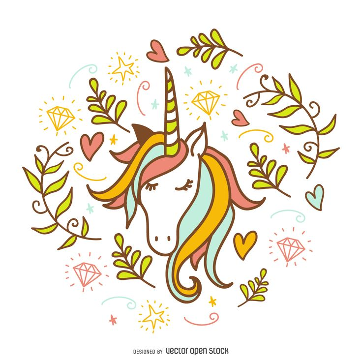 Ms de 25 ideas increbles sobre Dibujo unicornio en Pinterest