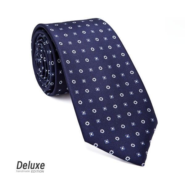 Italian Silk Tie in Blue and White