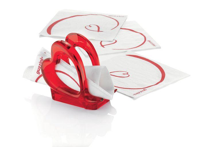 Guzzini 23770065 Love Porta tovaglioli colore rosso