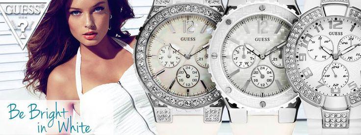 GUESS Watches! Be Bright in White!!! Δείτε όλη τη συλλογή ρολογιών GUESS μόνο στο OROLOI.GR! http://www.oroloi.gr/index.php?cPath=387
