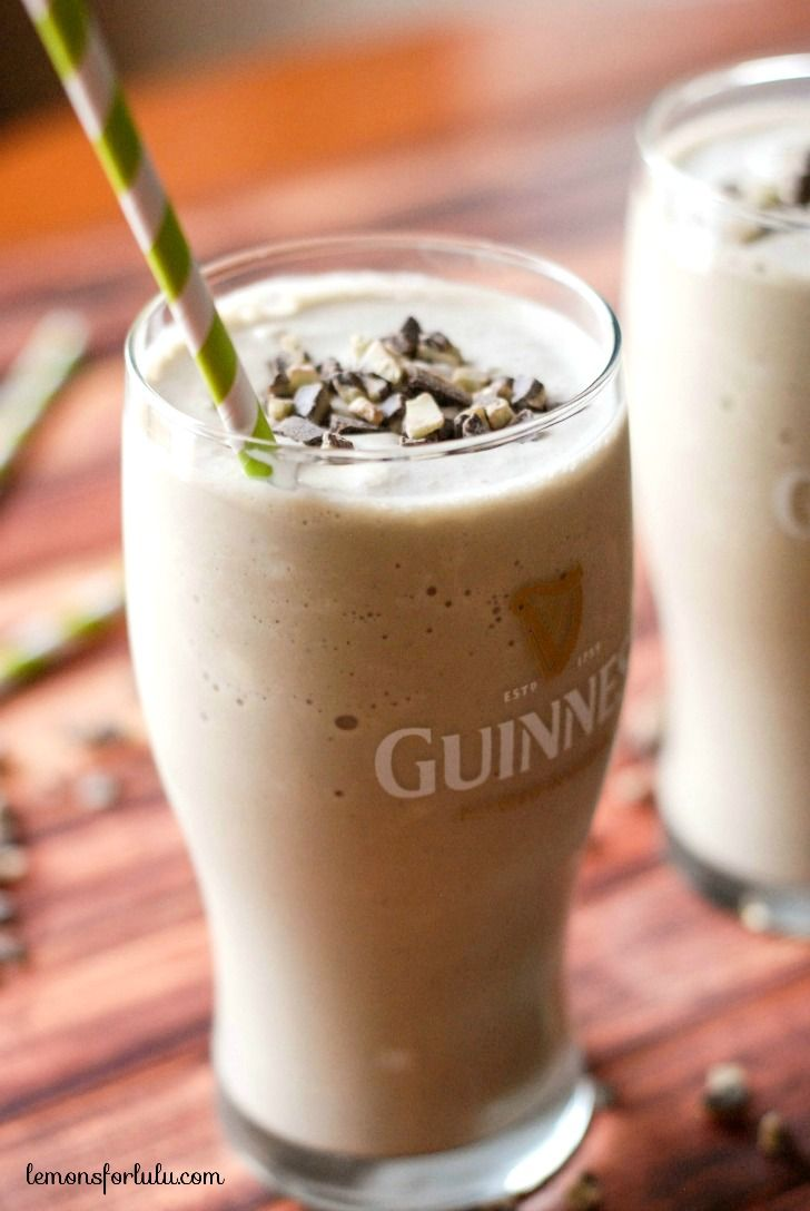 Guinness draught, Bailey's Irish Cream, Creme de Menthe blended with vanilla ice cream!
