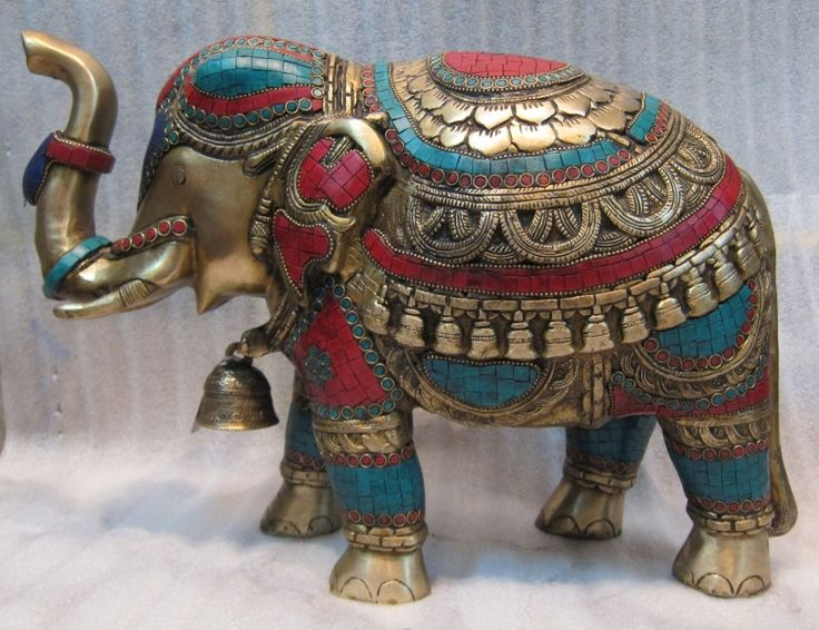 Brass Elephant / Brass / Copper Decorative