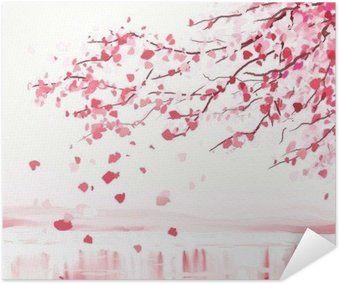 Poster Arbre cerisier japonais