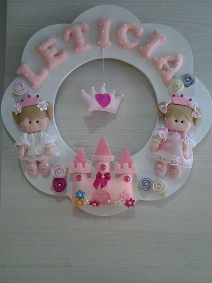 rosco de niña (princesas)