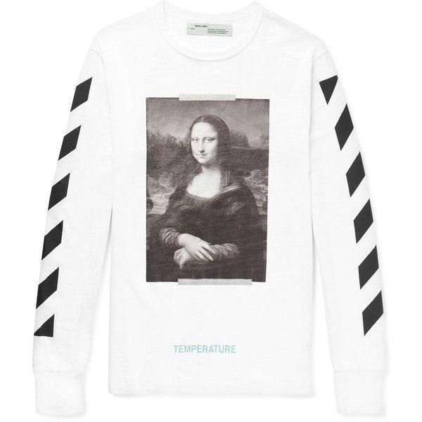 Off White Mona Lisa Oversized Printed Cotton Jersey T Shirt 360