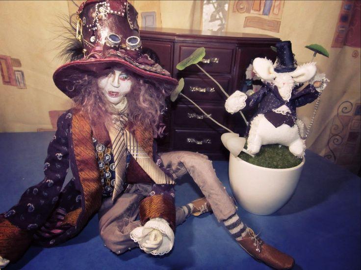 Авторская каркасная кукла Безумный Шляпник, что делать с неудачами, выки...