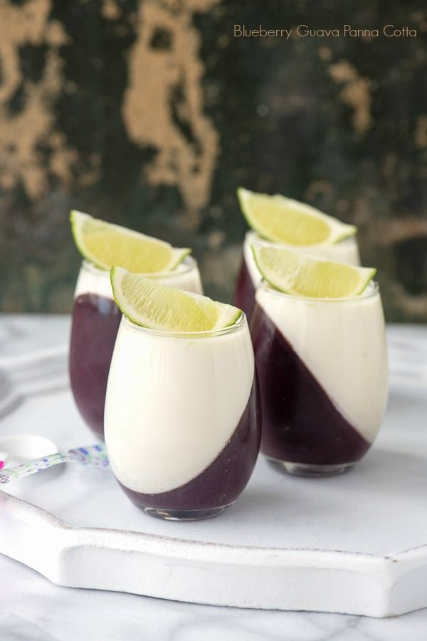 Blueberry Guava Panna Cotta   It is the hit of any gathering and naturally gluten-free.