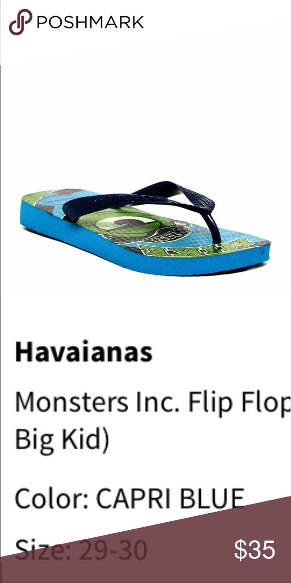 Monsters Inc boy flip flops So cute and brand new in package Havaianas Shoes Sandals & Flip Flops
