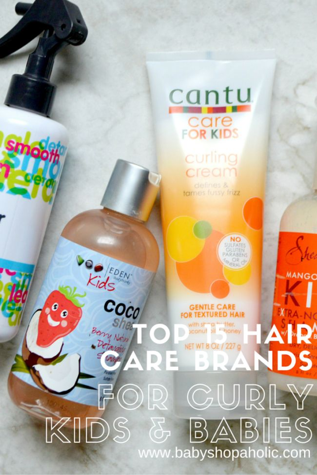 15 hair care brands for curly natural kids and babies.