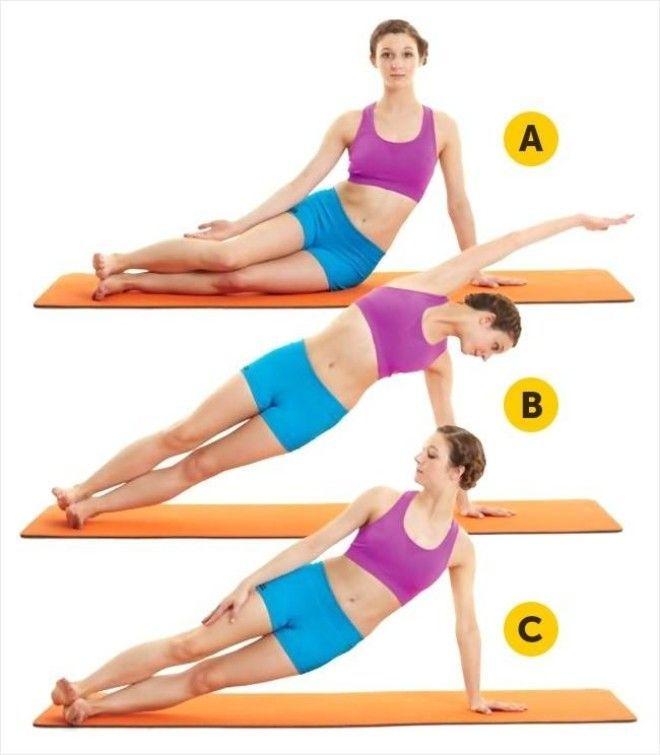 Упражнения для похудения живота и талии