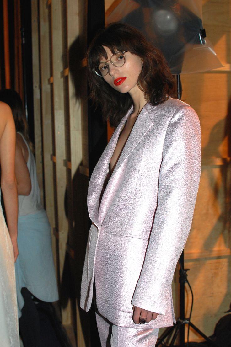 Katie B wears - smokey quartz and diamond detail cocktail ring