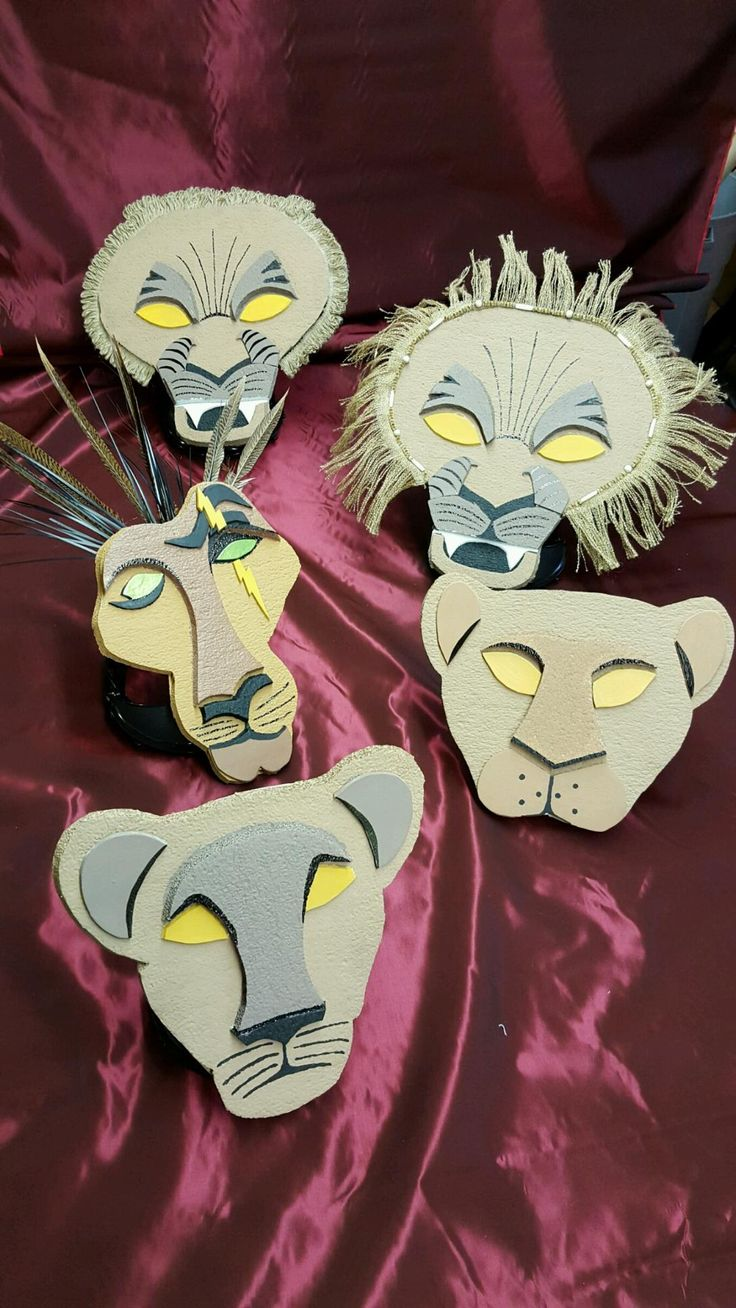 Scar, Mufasa, Simba, Nala and Serabi Headpieces for Lion King Jr.