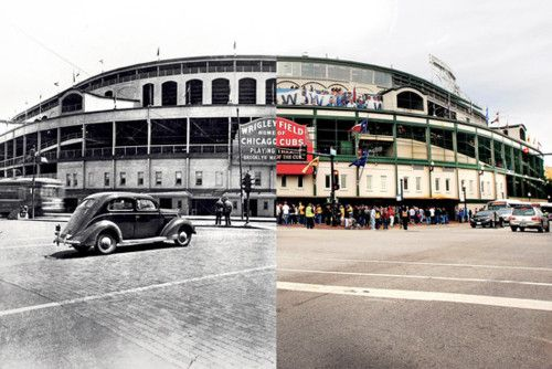 Wrigley Field- my brothers major league debut! Wish I could have been there!