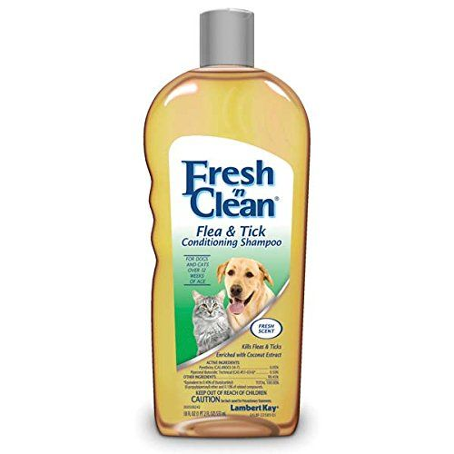 Fresh 'n Clean flea and tick conditioning shampoo is formulated with natural pyrethrins to quickly kill fleas and ticks without harsh chemicals. It creates a pleasing fragrance that lasts from one gro...