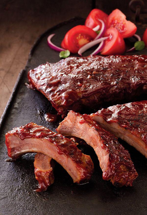 Fully Cooked Ribs With Bbq Sauce Seasonal Pork Ribs Food Bbq