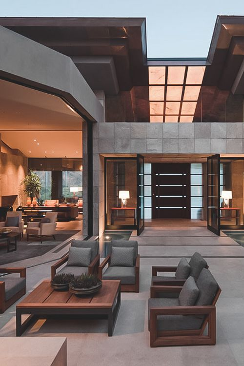 Dream home elegant new build contemporary construction breathtaking to see at twilight can imagine during the day as the light spills through the windows I'd live there would you?