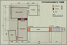 Piantina della tomba di Tutankhamon.