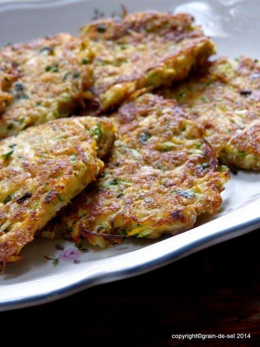 grain de sel - salzkorn: Wichtelei: Zucchinipuffer, Zucchinibratlinge, Zucchinilaibchen
