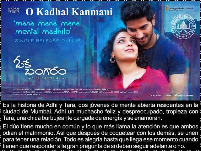 Cine Bollywood Colombia: O Kadhal Kanmani