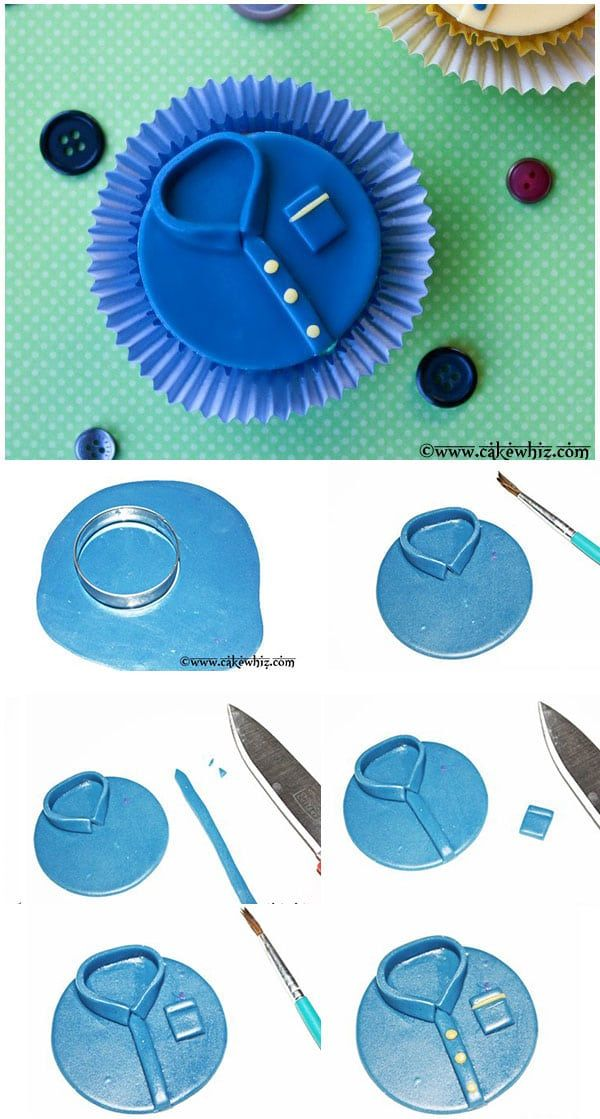 Father's Day Shirt Cupcakes (Step By Step Tutorial)