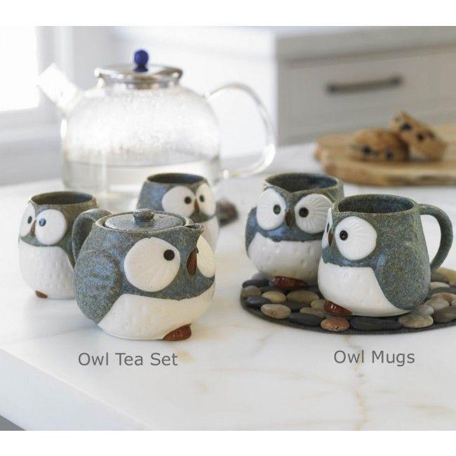 Who wouldn't love thisOwls Mugs, Tea Sets, Cups, Stuff, Teasets, Owls Teas, Teas Sets, House, Products