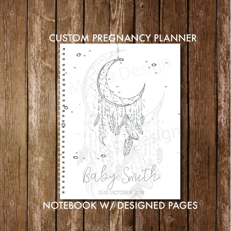 Personalized pregnancy diary with pre-made diary planning and diary pages, Dreamc …   – Baby Things