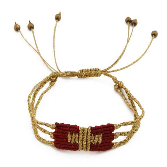 Macrame cross bracelet Crochet bracelet Rock chic by FrolicStones