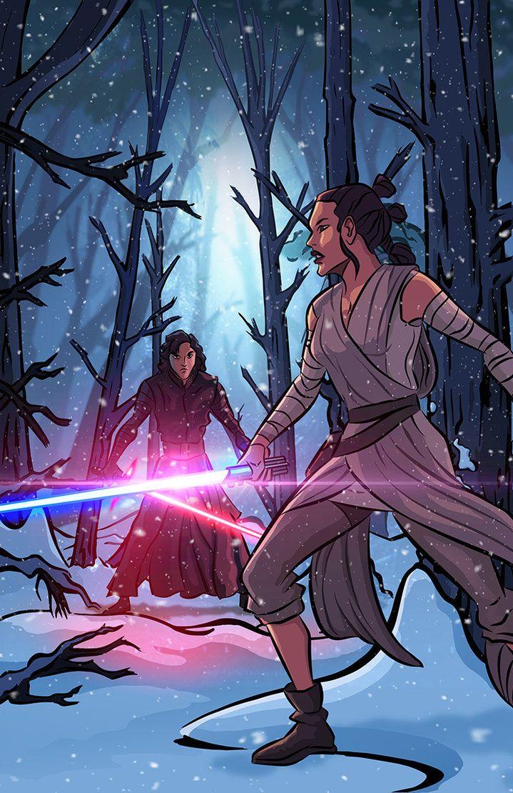 Star Wars Rey Vs Kylo Ren By Davidrabbitte Deviantart Com On Deviantart Rey Star Wars Rey Vs Kylo Ren Star Wars