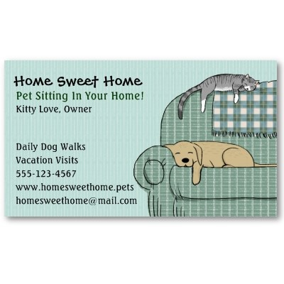 37 best pet sitting business cards images on pinterest carte de cute dog and cat pet sitting animal services business card colourmoves