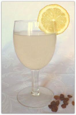 Mazsolás kristálygomba limonádé