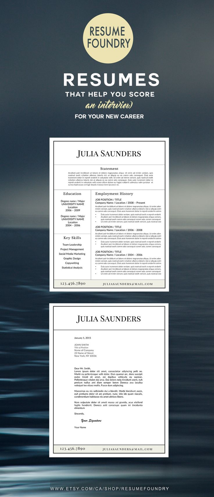 Resume Template the Julia Cover Letter