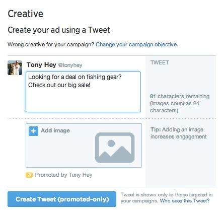 Tweets solo promocionados   Twitter for Business