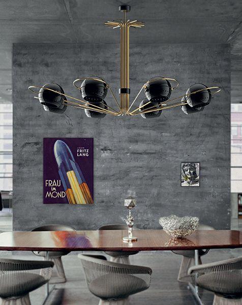 Luxury Industrial Interior Design with  Vintage Suspension Lamp | www.bocadolobo.com/ #partnerbrands #luxuryfurnituren/