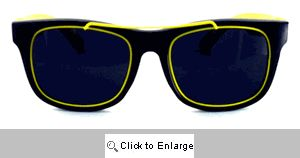 Gilly Metal Accent Wayfarers Sunglasses - 253 Yellow