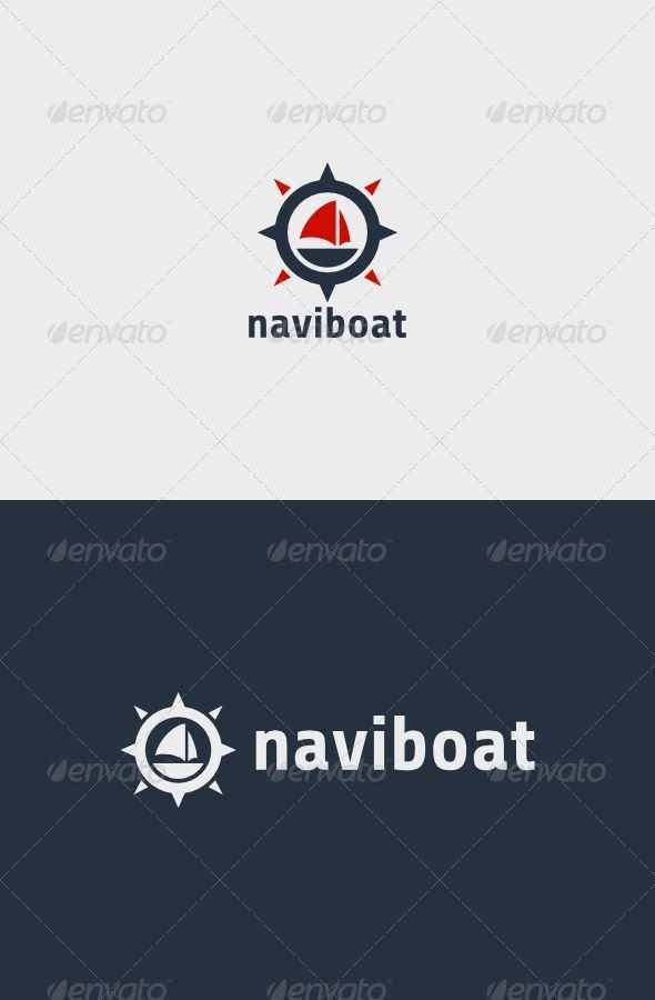 Navigation Boat Logo   http://graphicriver.net/item/navigation-boat-logo/8565562?ref=damiamio