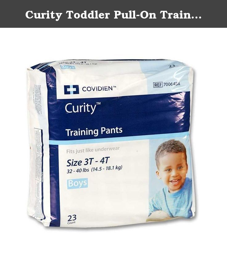 Curity Toddler Pull-On Training Pants for Boys, Size Large ...