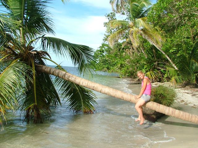 Es un playa. Se puede nadar. Está en Puerto Viejo de Costa Rica.