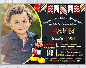 Invitación de Mickey Mouse - Mickey Mouse invitación - invitación de cumpleaños Mickey Mouse