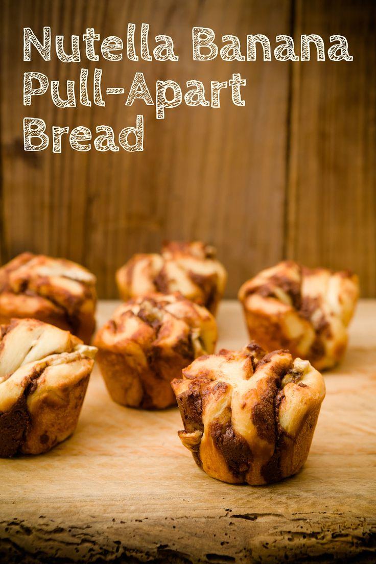 Nutella Banana Pull-Apart Bread ~ Cupcake Project