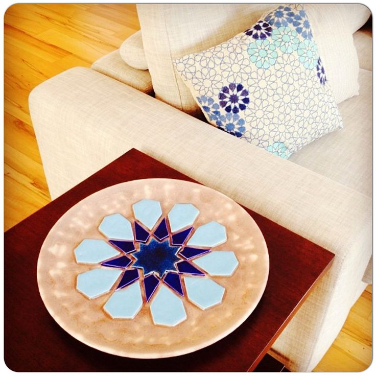 My plate inspired from Selcuklu art matching my pillows