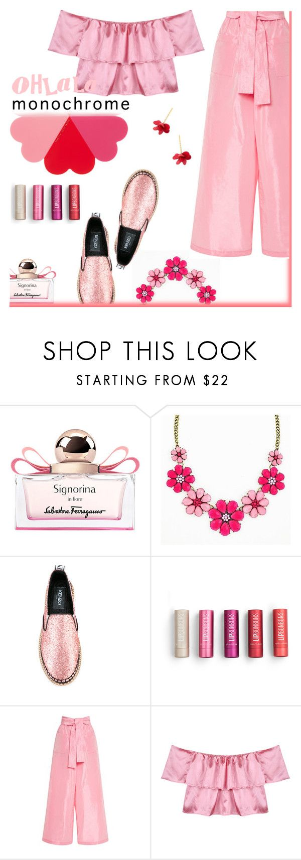 """monochrome ink"" by iraavalon ❤ liked on Polyvore featuring Salvatore Ferragamo, Kenzo, Tome, Charlotte Olympia and Marni"