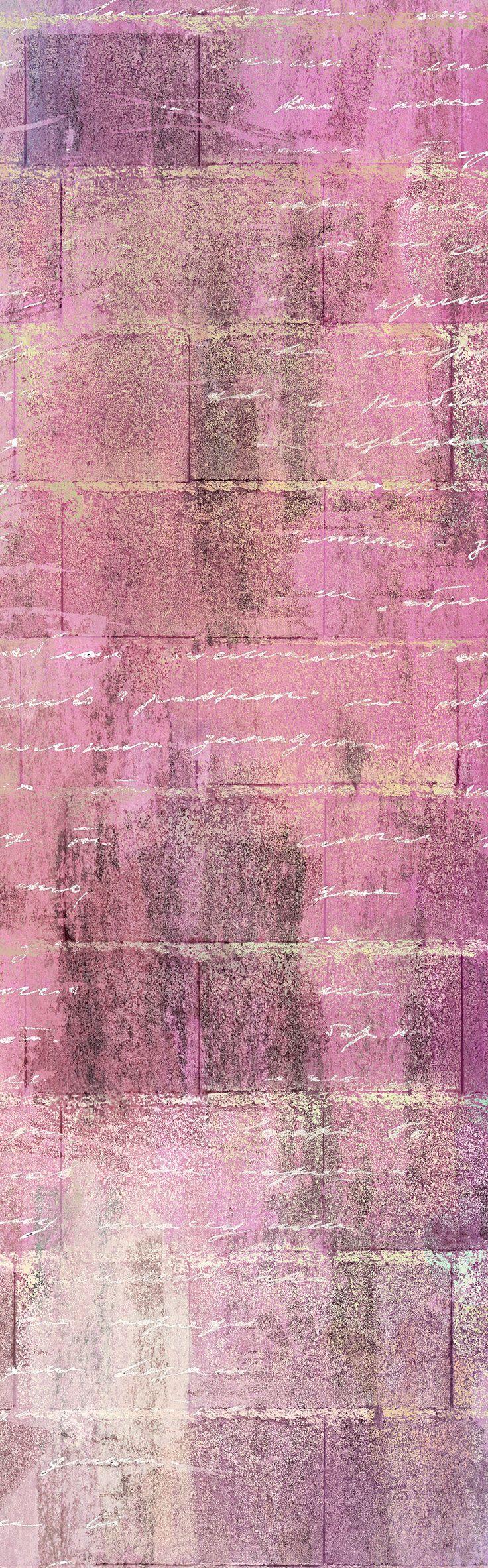 Carta da parati / Wall paper: CHARLIE – Colored #Tecnografica #ItalianWallcoverings #cartadaparati #wallpaper #rosa #pink #arredamentodinterni #interiordesign #design #cameradaletto #moderna #soggiorno #art #scritte #ideas #bedroom #modern #livingroom #words
