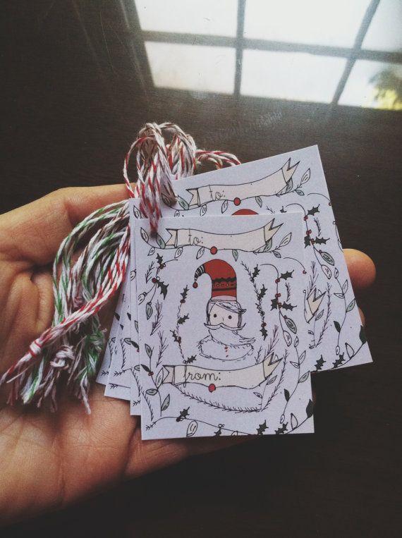Amazing!! Santa Holiday Gift tags By: Tiffany Jones Design