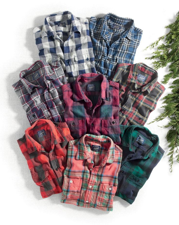J.Crew men's midweight flannel shirt.