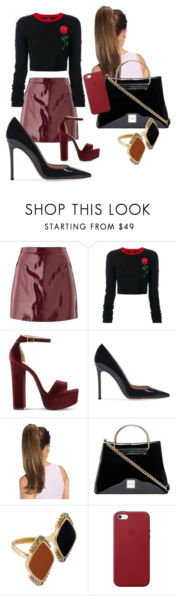 """Без названия #12"" by olya-chernenko ❤ liked on Polyvore featuring Miss Selfridge, County Of Milan, Steve Madden, Misis and Apple"